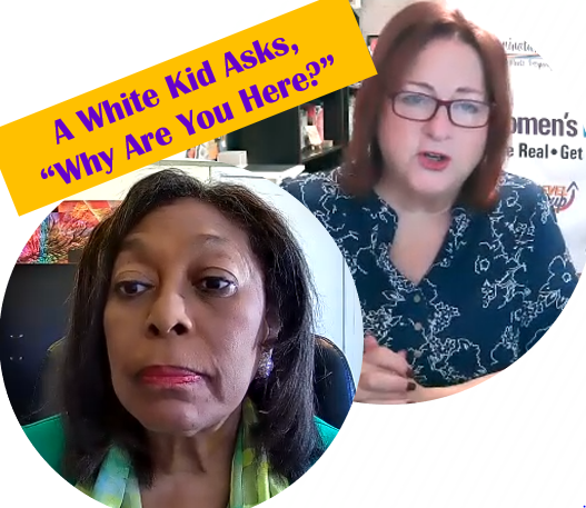 """A White Kid Asks, """"Why Are You Here?"""" with Dr. Joy Vaughan"""